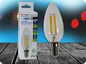 E14 Led Retro Filament Žárovka 4W, Svíčka (Barva světla Studená bílá)