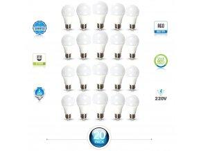 E27 Led Žárovka 15W, A65, Balení 20 Kusů (Farba svetla Studená bílá)