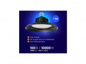 LED Higbay 100W (10 000lm), IP65, 4000K