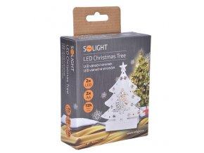 Solight LED kovový vánoční stromeček, 2xAA