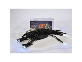 Solight LED vánoční řetěz, 3m, 20xLED, 3xAA, bílé světlo, zelený kabel