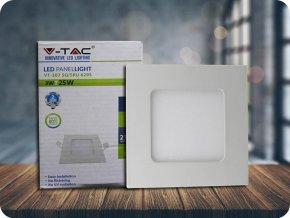 LED PANEL 3W, ŠTVORCOVý, 210LM, bílý rám (Farba svetla Studená bílá)