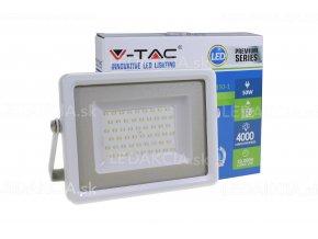 LED REFLEKTOR 50W, 4000LM, 220V, BÍLÝ (Barva světla Studená bílá)