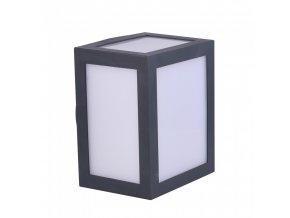 Nástěnné LED svítidlo 12W (750 lm), IP65, šedé (Barva světla Studená bílá 6400K)
