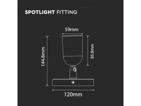 LED svítilna, 1xGU10, max 35W, IP20, bílá