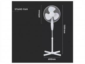 40W stojanový ventilátor, průměr základny 60cm, výška 120cm