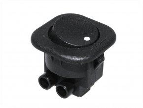 Vypínač kolébkový, 6A/250V, černý kulatý