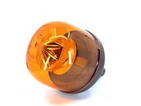 LED výstražný maják 22W, 10xLED, flex, napojení přes úchyt, 12-24V, oranžový