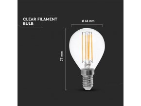 E14 Led Retro Filament Žárovka 4W, P45