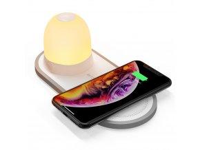 BlitzWolf noční LED světélko + bezdrátová nabíječka BW-LT26i, 5000K / 2700K, 5W/7.5W/10W