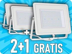 LED REFLEKTOR 100W, 8000LM, Samsung chip, BÍLÝ, 2+1 zdarma! ✤