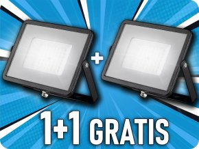 LED REFLEKTOR 50W, 4000LM, Samsung chip, ČERNÝ, balení 2 kusy! ✾