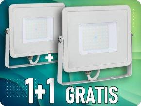 LED REFLEKTOR 50W(4000LM), SAMSUNG CHIP, BÍLÝ, balení 2 kusy! ✾