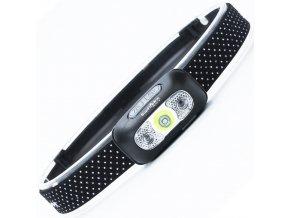 LED dobíjecí čelovka Supfire HL05-X, 2W, 3 módy + SOS + senzor, nabíjení přes Micro-USB, 117lm, 65m