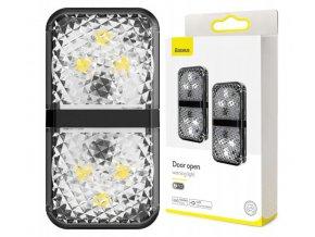 """Baseus výstražné LED světélko """"Otevřené dveře"""", voděodolné, 2ks/balení, černé"""