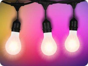 LED Řetězové svítilna + 10 x E27 LED žárovky zdarma!