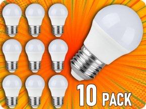 E27 LED žárovka 5.5W, 470lm, SAMSUNG chip, G45, balení 10 kusů!