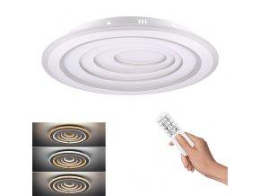 Solight LED stropní světlo Cascade, kulaté, 76W, 4180lm, dálkové ovládání, 3000-6500K