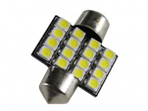LED AUTOŽIAROVKA C5W, 16 X LED, 31MM  + Zdarma záruka okamžité výměny!