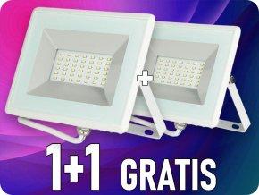 LED REFLEKTOR 30W (2550LM), BÍlÝ, IP65, 1+1 zdarma!