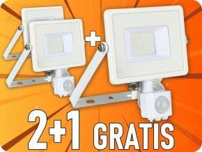 20W LED reflektor se senzorem SMD, SAMSUNG chip, 2+1 zdarma!