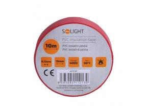 Solight izolační páska, 15mmx0,13mmx10m, červená