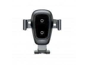 Baseus Držák na mobil Gravity do auta, bezdrátové nabíjení, černý