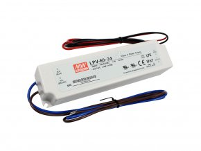 2709 2 mean well napajeci adapter pro led aplikace 24v 2 5a 60w ip67
