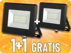 LED REFLEKTOR 20W (1700lm), ČERNÝ, IP65, 1+1 zdarma!