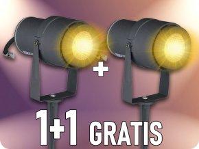 Zahradní svítidlo 12W, 720 lm, IP65, 1+1 zdarma!