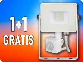 10W LED reflektor se senzorem SMD, SAMSUNG chip, 1+1 zdarma!
