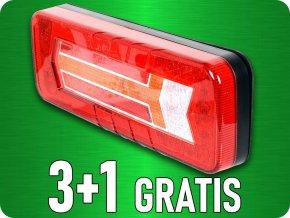 LED Zadní světlo, dynamická směrovka, 12/24V, 6 funkcí, 3+1 zdarma!