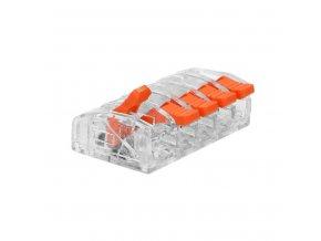 Spojka na kabely 5pin mini zacvakávací, 0.2-4mm2, 450V/32A