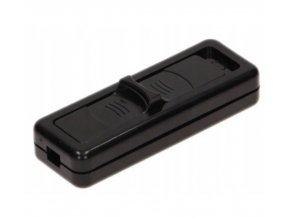 Samostatný vypínač posuvný 230V, 2.5A, černý