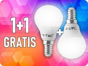 E14 LED ŽÁROVKA 5.5W, P45, SAMSUNG CHIP, 1+1 zdarma!