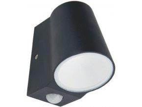 Nástěnné svítidlo Simor Wall se senzorem 6W, 400lm, 3000K, 100°, IP54, tmavošedé