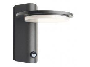 Nástěnné svítidlo Valle se senzorem 7W, 440LM, 3000K, 145°, IP54 tmavě šedá