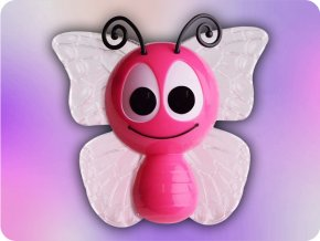 LED dětská noční lampička  motýlek RGB  1W se senzorem
