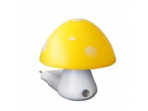 Noční světýlko Hříbek se senzorem 0,4W 6400K žlutý + bílý