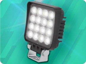 LED pracovní světlo 16W, 1600lm, 12V/24V, IP6K9K