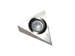 Nástěnné svítidlo na G4, 12V, IP45, trojúhelníkové bez vypínače, nerez