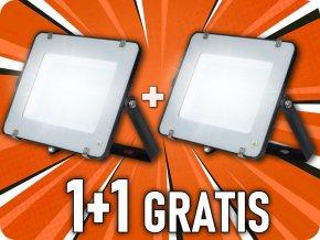 LED REFLEKTOR 200W, SAMSUNG CHIP, 16000LM, ČERNÝ, 1+1 zdarma!