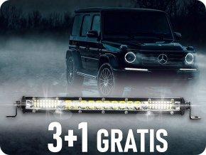 LED pracovní světlo 36W, 1600LM, 12/24V, 24xLED, 3+1 zdarma!