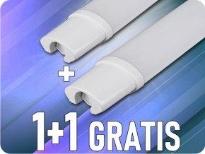 LED Voděodolná lampa S-series 18W, 1530lm, IP65, 60cm, 1+1 zdarma!