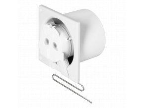 ORNO Koupelnový ventilátor s flexo šňůrou a řetízkovým vypínačem na stěnu/strop, 8W