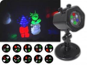 Zahradní projektor LTC LED 4W s dálkovým ovládáním, 12 vyměnitelných vzorů, IP65