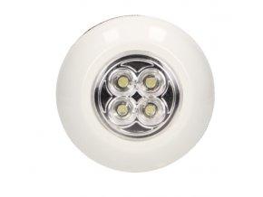 LED svietidlo na batérie 0,6W 10LM 6000K 4xLED 3xAAA zapínanie stlačením, samolepiaca páska (LA-3)