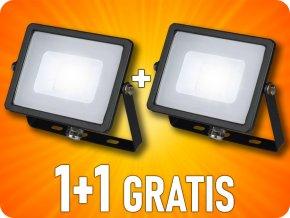 LED REFLEKTOR 20W, 1600LM, SAMSUNG CHIP, ČERNÝ, 1+1 zdarma!