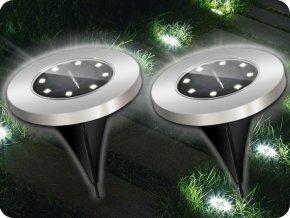 LED solární svítidlo do země 0,2W, 6lm IP44, 6500K, balení 2ks