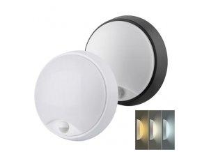 Solight LED venkovní osvětlení se senzorem, CCT, 18W, 1350LMT, 22cm, 2v1 - bílý + černý kryt